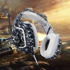 PS3 PS4 Gaming Headset, MillSO Camouflage 3.5mm Over-ear PC Gaming Headphone UK