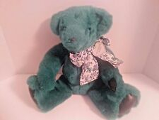 VICTORIA'S SECRET 1992 GUND Teddy Bear Bow Collectible Plush Green
