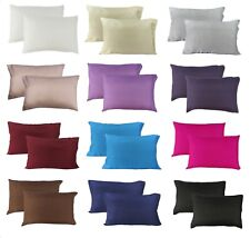 PAIR 100% Mulberry Pure Silk Pillow Cases / Covers - QUEEN STANDARD Hair Beauty