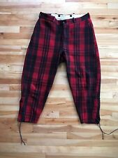 Vintage Chippewa Woolen Mills Mens Red & Black Plaid Wool Hunting Pants - UNIQUE