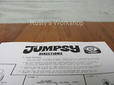 1970 Remco Jumpsy doll Instruction sheet (Reproduction)