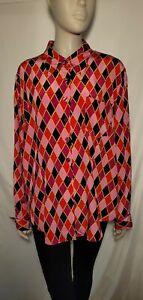 Diane von furstenberg 100% Silk Button Up Vintage Shirt