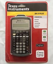 Brand New Texas Instruments BA II Plus Financial Business Analyst Calculator