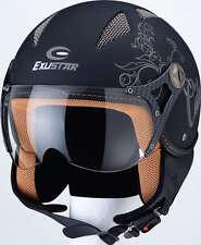 Exustar CityClass Jet Casco Moto casco piloti Nero/Argento XL