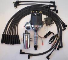 Small Cap BUICK NAILHEAD 401 425 BLACK HEI Distributor+ CHROME COIL + PLUG WIRES