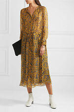 ÉTOILE ISABEL MARANT Baphir Printed Silk Midi Dress Size S Orig. $600 NEW