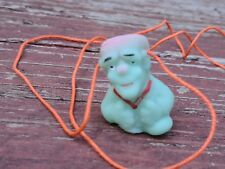 "VTG RARE MEXICO RUBBER MONSTER FRANKENSTEIN NECKLACE - PUPPET FINGER 1 1/4"" NEW"
