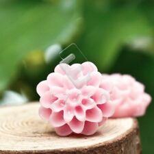 10pcs Resin Flatback Cabochons Cameo Flower Scrapbooking 13x13x7.5mm Pink4 HC