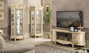 Wohnzimmer Komplett Beige Hochglanz Barockstil Klassische Italienische Stilmöbel
