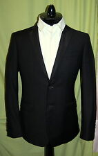 NWT BURBERRY LONDON mens black wool mohair tuxedo suit US 48L $1995 ITALY