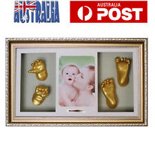 Baby Hand&Foot Print Casting Kit DIY Baby Keepsake w/ Shadow box Photo Frame AU