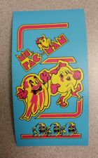 Ms. Pac Man cabinet art sticker. 4 x 4. (Buy 3 of my stickers, GET ONE FREE!)