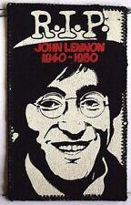 JOHN LENNON R.I.P. 1940-1980 Old OG VTG Early 1980s Printed Sew On Patch BEATLES