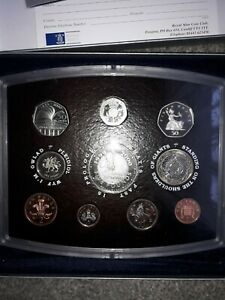 2000 UK Proof Set, Coins For The New Millennium. 10 Coin Set. As Seen.