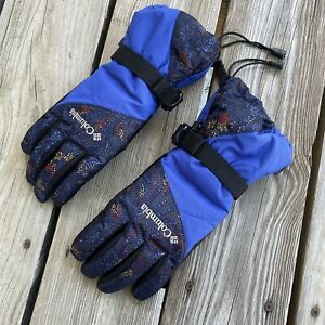 Columbia Women's M Gloves Waterproof Ski Snow Gloves Omni-tech Blue Black