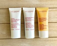 CLARINS Lot 3 - Exfoliating Cleanser, Hand & Nail Treatment, Body Scrub NEW