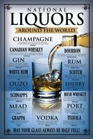 National Liquors Around The World Drinking Art Print Poster 24x36 inch
