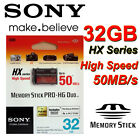 Genuine SONY 32 GB Memory Stick PRO-HG Duo HX 50MB/S for Sony PSP Camera RETAIL