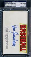 Dan Quisenberry Signed Psa/dna Certified 3x5 Index Card Autograph