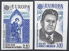 FRANCIA EUROPA Nº2366/2367 SELLO NO DENTADO IMPERF 1985 NEUF MNH