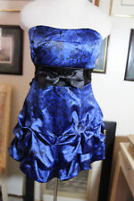 Ruby Rox blue satin evening cocktail prom dress 9