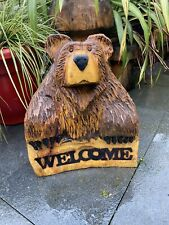 Chainsaw Carved  Bear Carvings Bear welcome bear  garden outdoors signs