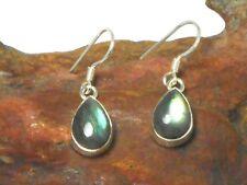 Teardrop   LABRADORITE   Sterling  Silver  925  Gemstone  EARRINGS