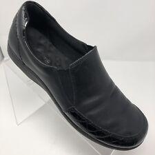 Walking Cradles Womens Black Slip On Loafer Sz 9 B Low Heel Comfortable