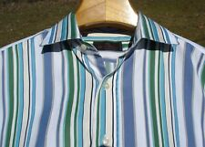 "ETRO SHIRT 44 XL 16 1/4"" COLLAR 52"" CHEST ITALIAN MOTHER-OF-PEARL BESPOKE SPARE"