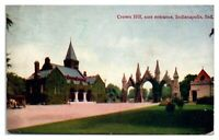 1908 Crown Hill, Indianapolis, IN Postcard *247
