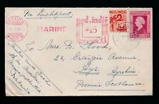 NETHERLANDS EAST INDIES 1947 MARINE METER FRANKING + 17 1/2c +2 1/2c to SCOTLAND