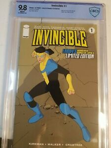 INVINCIBLE #1 CBCS NM+ 9.8  LIMITED EDITION LARRY'S Low Print  Run of 1000  HTF