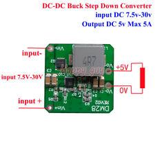 Mini DC-DC Buck Step Down Voltage Converter 9V-24V 12V 15V to 5V 5A Power Module
