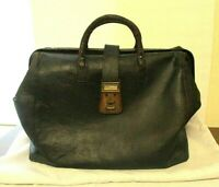 Antique Black Leather Doctors Bag New Process Co Handibag Warren Pennsylvania