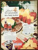 1947 Stokely's Finest Foods Print Ad Sunday Breakfast Juice Catsup Chili Sauce