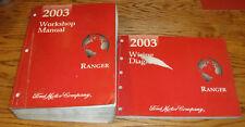Original 2003 Ford Ranger Truck Shop Service Manual + EVTM Wiring Diagram Set 03