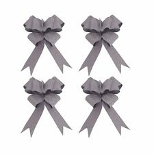 30mm 10pc Glitter Butterfly Pull Bows Party Wedding Car Decor Gift Wrap Silver