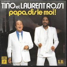 "45 TOURS / 7"" SINGLE--TINO & LAURENT ROSSI--PAPA DIS LE MOI--1979"