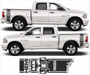 Decal for Dodge Ram 1500 Hemi side bed Stripes Stickers Vinyl Window Laptop