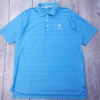 Adidas Ultimate ClimaCool Golf Polo Shirt Mens Medium Blue Short Sleeve P36