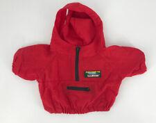 Vintage LL Bean Bear Clothes Red Anorak Jacket Windbreaker