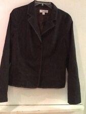 Paul and Joe For Target Blazer Jacket Brown Blue Pinstripe Size L Large EUC