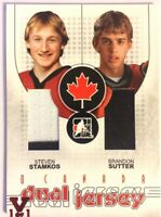 2007-08 ITG O Canada Dual Jersey Steven Stamkos Brandon Sutter Vault Red 1/1