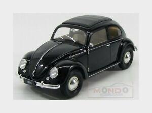 Volkswagen Beetle Classic Closed Roof 1950 Black Welly 1:18 WE18040BK