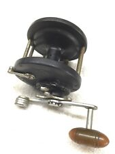 Penn #85 - Black/Chrome - Vintage Reel - Brown Handle - Rare In Great Condition!