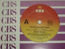 """EDDIE MONEY *RARE 7"""" 45 ' PEACE IN OUR TIME ' 1989 VGC+"""