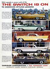 "1957 Chrysler Cars Ad Replica 14 x 11"" Photo Print"