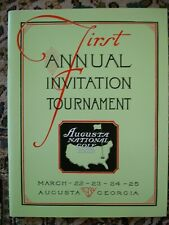 MINT Vintage 1934 1st MASTERS Program AUGUSTA NATIONAL GOLF CLUB