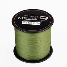 Dorisea MEGA 9 Strands 100M~2000M Army Green Round Braided Fishing Line 15~100lb
