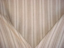 7Y RALPH LAUREN BEIGE / ANTIQUE WHITE / BROWN WOOL STRIPE UPHOLSTERY FABRIC
